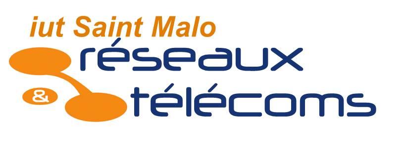 Logo de l'iut Saint Malo - réseaux & télécoms