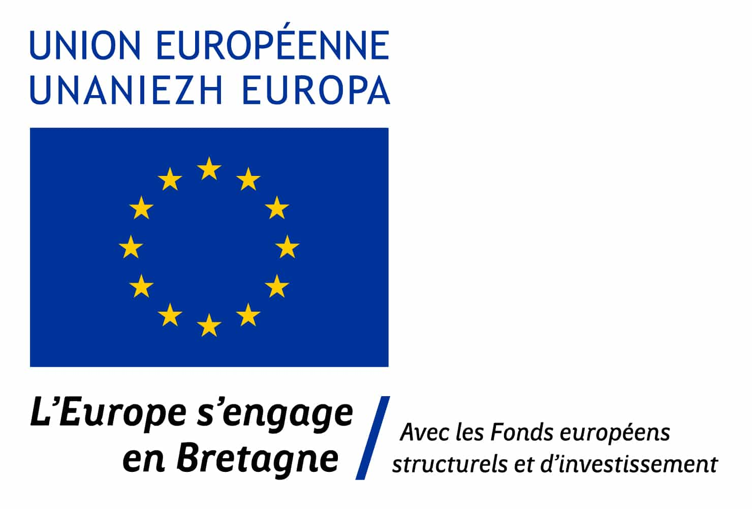 "Logo ""L'Europe s'engage en Bretagne"""